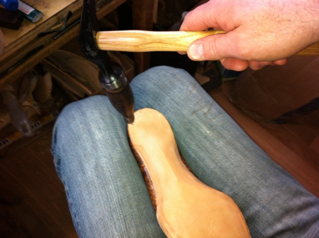 Pegging Sole at Heel
